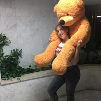 דובי ענק מטר וחצי חום בהיר