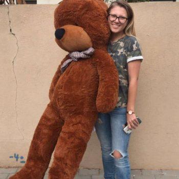 דובי ענק - מטר וחצי - חום
